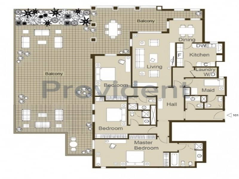 13 Boundless Space   3BR+M Terraced Apt DFC