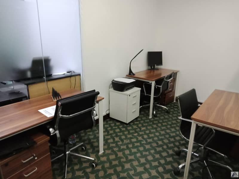 Fully Furnished & Serviced Sharing Offices With Panoramic View of Bur Dubai With One Year Tenancy Contract