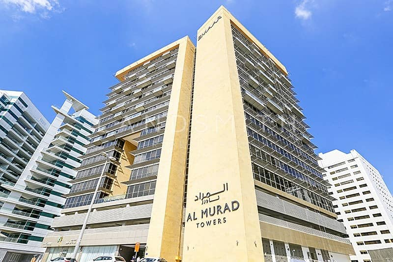 10 Large 1BR Apt with Free Chiller in Al Murad Tower