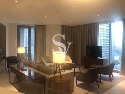 شقة 2 غرفة نوم للايجار في وسط مدينة دبي، دبي - 2 BR + Study | Fully Furnished | Serviced