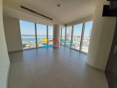 فلیٹ 2 غرفة نوم للايجار في الخالدية، أبوظبي - Sea View 2 M/BR Gym