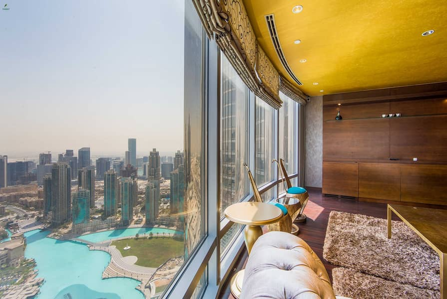 Furnished 2BR with Full Fountain View Burj Khalifa