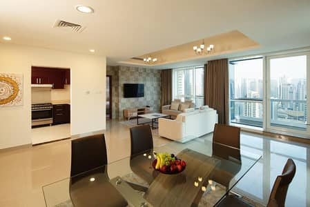 2 Bedroom Hotel Apartment for Rent in Dubai Marina, Dubai - 2 Bedroom Deluxe Apartment / newly renovated/all bills included