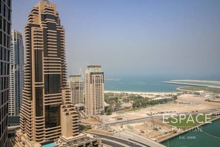 فلیٹ 3 غرف نوم للبيع في دبي مارينا، دبي - Full Sea View | Tenanted | 3 Beds