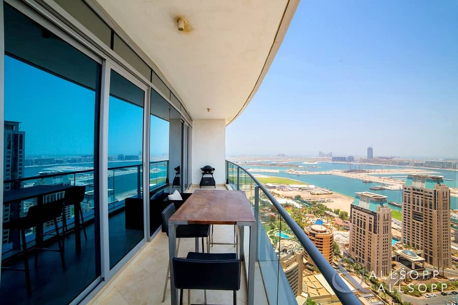 2 Amazing Sea Views | 1B + Study | Spacious