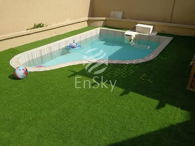 5 Bedroom Villa Compound for Sale in Khalifa City A, Abu Dhabi - Upgraded 6 Villa Compound with swimming pool