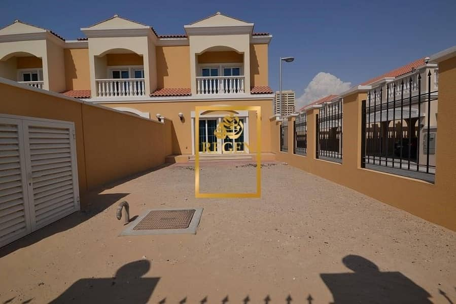 2 One Bedroom Nakheel Townhouse Corner Unit For SALE in District 12 with View of Park
