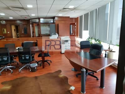 Office for Sale in Business Bay, Dubai - Very Spacious Fully furnished office with good ROI