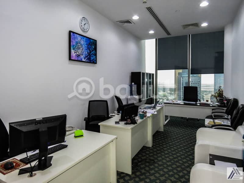 BRAND NEW CUSTOMIZED LUXURIOUS PRIVATE OFFICES AT SHEIKH ZAYED ROAD|PRESTEGIOUSE LOCATION|1 MNT WALK AWAY FROM METRO.