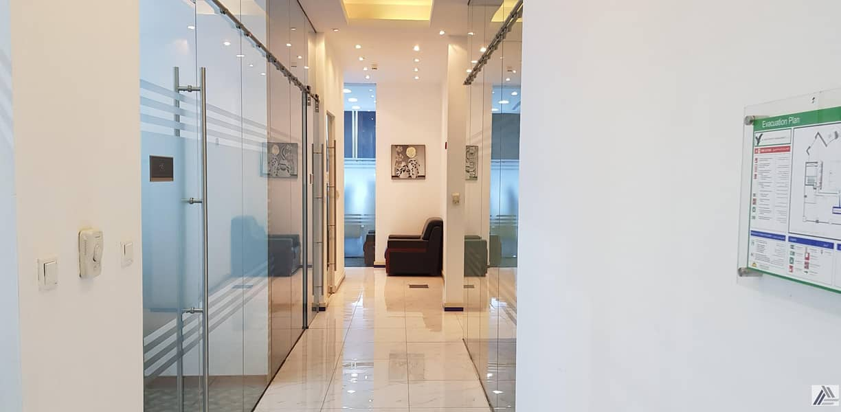 16 BRAND NEW CUSTOMIZED LUXURIOUS PRIVATE OFFICES AT SHEIKH ZAYED ROAD|PRESTEGIOUSE LOCATION|1 MNT WALK AWAY FROM METRO.
