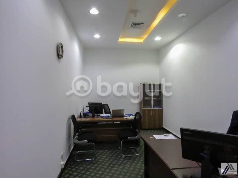 2 BRAND NEW CUSTOMIZED LUXURIOUS PRIVATE OFFICES AT SHEIKH ZAYED ROAD|PRESTEGIOUSE LOCATION|1 MNT WALK AWAY FROM METRO.