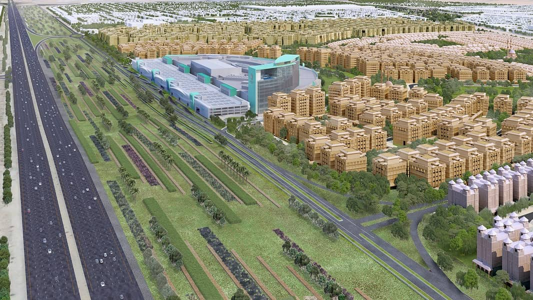 Lands For Sale in Sharjah Permit villas or buildings in a prime location on Emirates Road