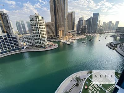 2 Bedroom Apartment for Rent in Dubai Marina, Dubai - HIGH FLOOR FULL MARINA VIEW READY TO MOVE IN