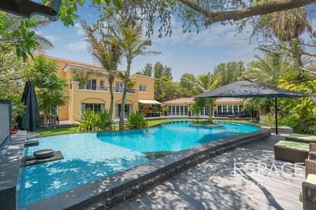 فیلا 4 غرف نوم للبيع في المرابع العربية، دبي - Upgraded and Unique Golf Course Villa