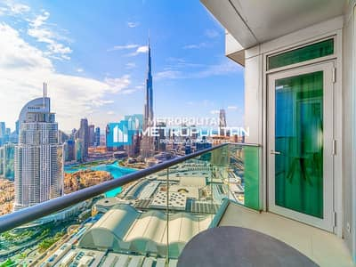2 Bedroom Hotel Apartment for Rent in Downtown Dubai, Dubai - Unique Furnished 2 Bed Layout - Full Fountain View