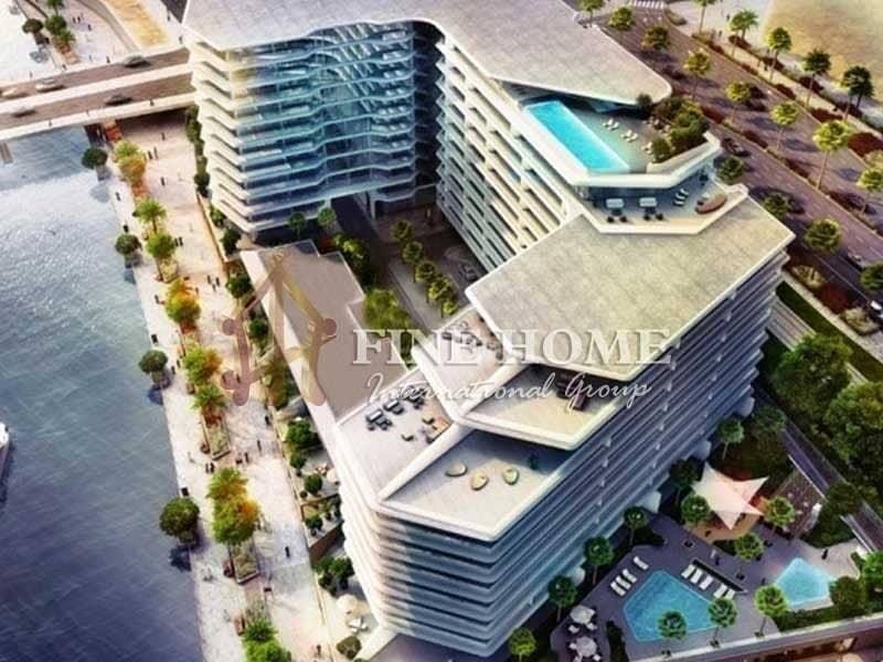 19 Full Sea View 1BR Apartment in Al Hadeel Tower