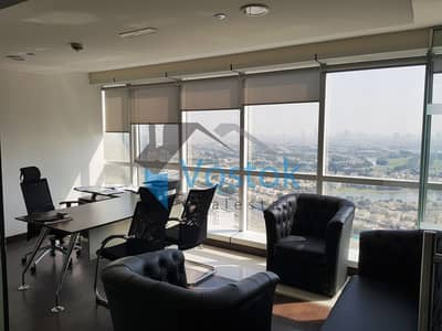 Office for Rent in Jumeirah Lake Towers (JLT), Dubai - Fully furnished| With partitions| Amazing View
