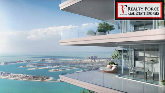 3 Bedroom Flat for Sale in Dubai Harbour, Dubai - PALM VIEW | CORNER UNIT WITH HUGE BALCONY