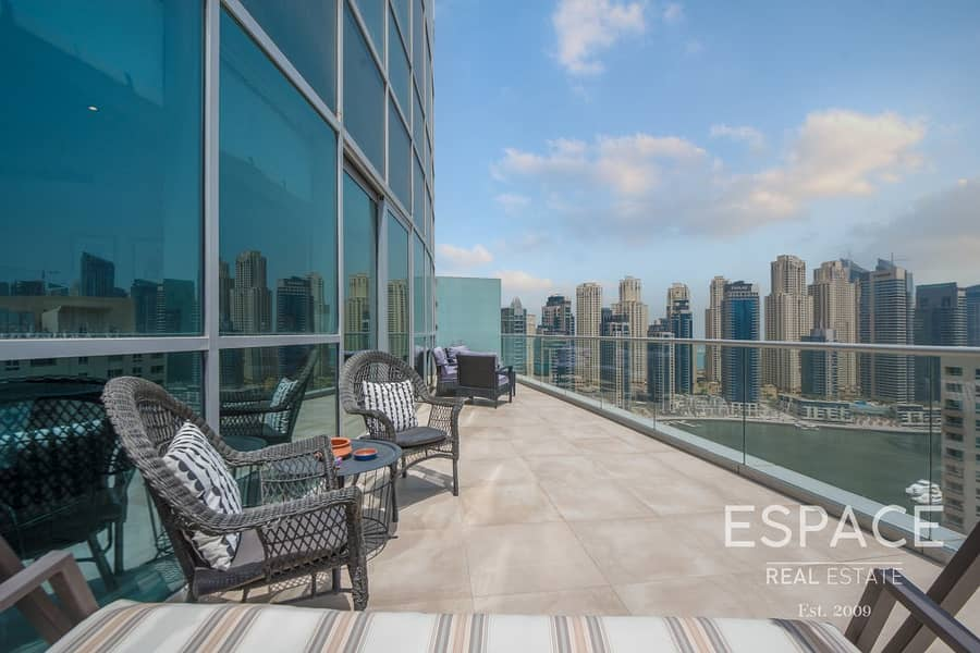 3 Beds Plus Maids Penthouse Full Marina Private Pool