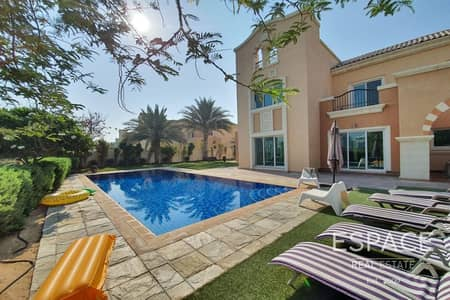 6 Bedroom Villa for Rent in Dubai Sports City, Dubai - Huge Private Pool - Lake and Golf Course View