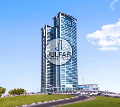 مکتب  للايجار في دفن النخیل، رأس الخيمة - 2 Shell & Core Offices FOR RENT Julphar Tower RAK.