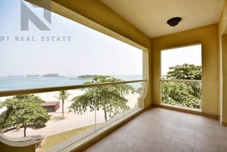 فلیٹ 1 غرفة نوم للايجار في نخلة جميرا، دبي - Sea View  I  Direct Beach Access  I  Vacant