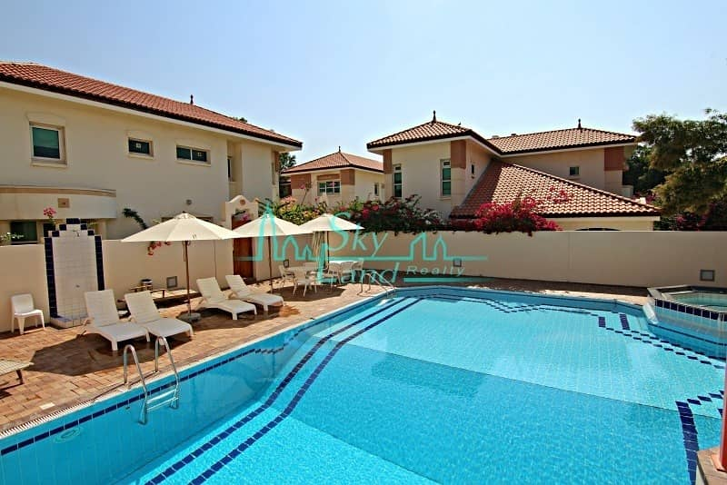 RENOVATED 5 BED GARDEN IN A COMPOUND WITH POOL