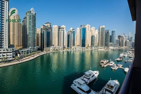 3 Bedroom Apartment for Sale in Dubai Marina, Dubai - Full Marina View 3 BR with Maids and Storage Room