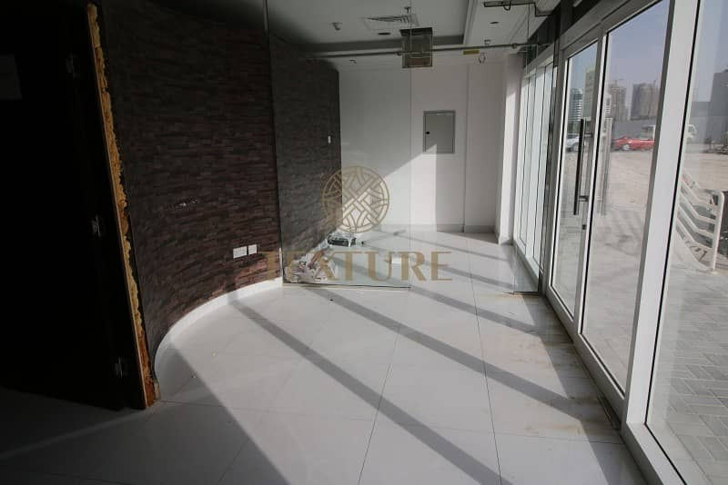 12 Semi fitted Retail for Rent AED 88K per Year