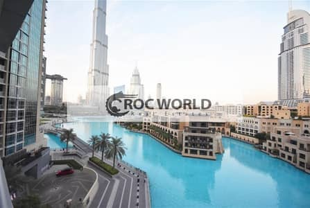 3 Bedroom Flat for Rent in Downtown Dubai, Dubai - 3 Bedroom + Maids Apartment  | Full Burj Khalifa & Fountain View