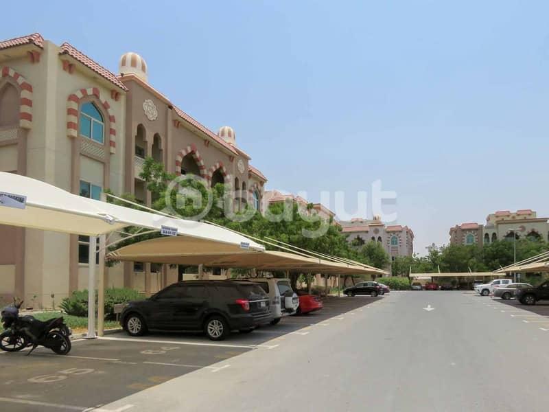 غرفتين للايجار - مجمع دبي للاستثمار- ايوان ريزدنس- مباشرة من المالك- بدون عمولة- عائلي فقط -46,000 سنويا
