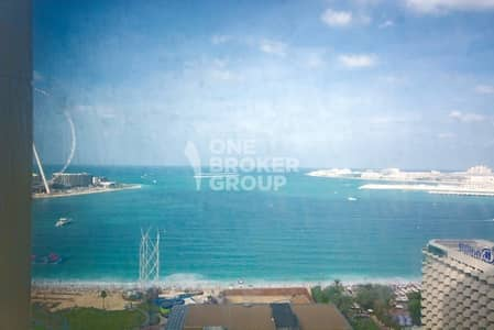 2 Bedroom Flat for Rent in Jumeirah Beach Residence (JBR), Dubai - Sea Views I Unfurnished I Spacious Layout