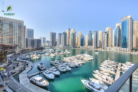 2 Bedroom Flat for Rent in Dubai Marina, Dubai - Vacant 2 BR with Study Upgraded Floors Marina View