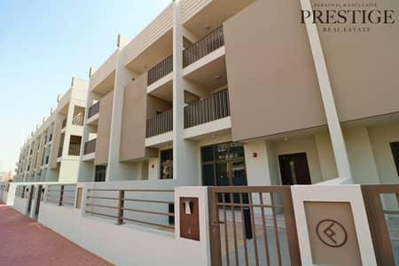 4 Bedroom Townhouse for Sale in Jumeirah Village Circle (JVC), Dubai - Park Facing I Elevator I G+2 Single Row Townhouse