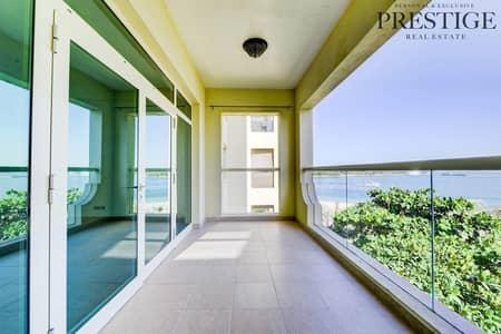 فلیٹ 1 غرفة نوم للايجار في نخلة جميرا، دبي - Well Maintained | Full Sea view | Shoreline