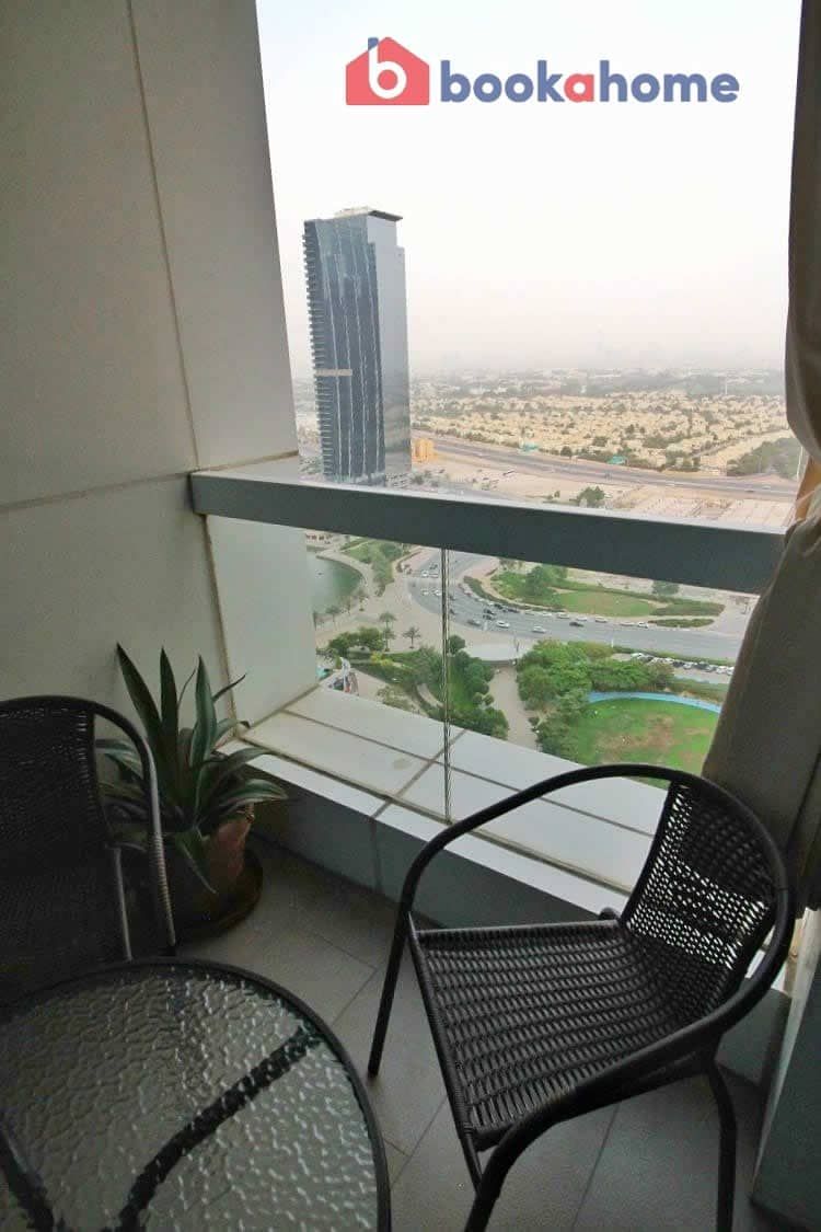 2 Spacious Studio in Saba Tower 2 with balcony close to metro