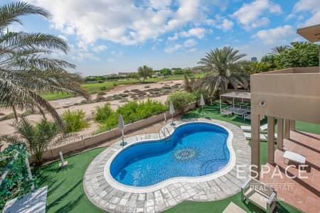 فیلا 5 غرف نوم للبيع في المرابع العربية، دبي - Full Golf Course Views - Quiet Location