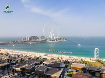 2 Bedroom Flat for Rent in Jumeirah Beach Residence (JBR), Dubai - Stunning Full Sea View 2 Bedroom Unfurnished