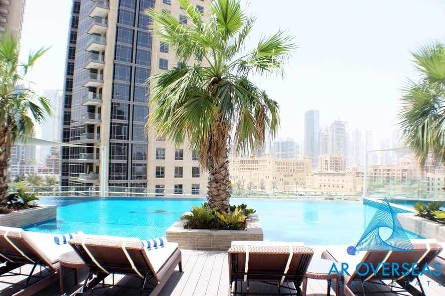 14 Fully Furnished 3 Bedroom Apartment With Burj Khalifa View
