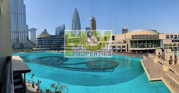 Upgraded 1 Br with front fountain and Burj Khalifa views