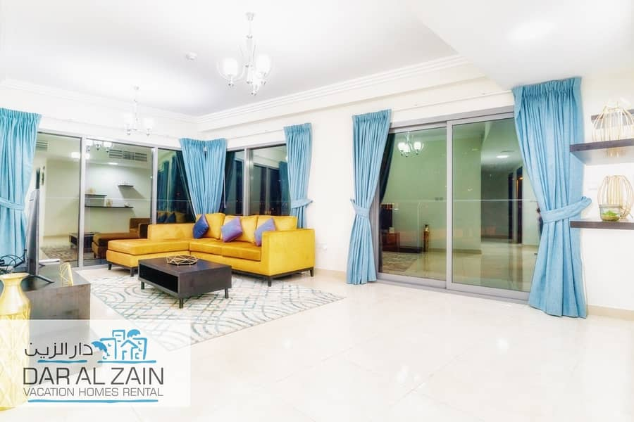 LUXURIOUS FULLY FURNISHED 2 B.R IN AL ZAIN RESIDENCE