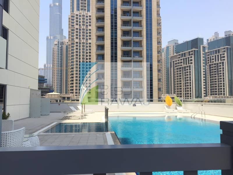 16 Brand new and Luxurious 2 BHK  apartment with close kitchen   in Downtown Dubai