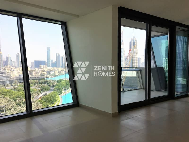2 Panoramic Burj & Fountain View |Biggest 2BED