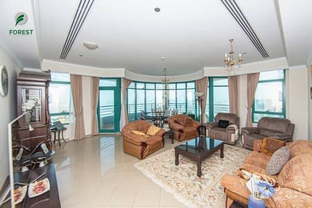 3 Bedroom Apartment for Sale in Dubai Marina, Dubai - Furnished 3BR with Full Sea View on High Floor