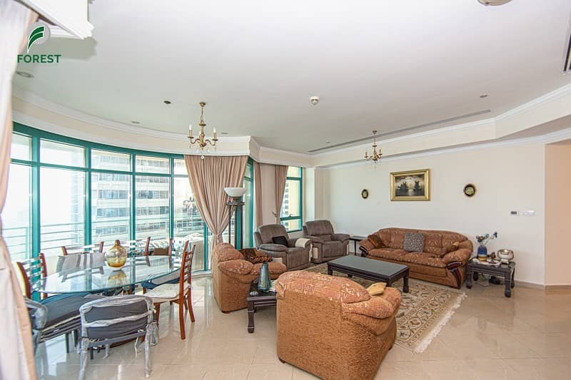 2 Furnished 3BR with Full Sea View on High Floor