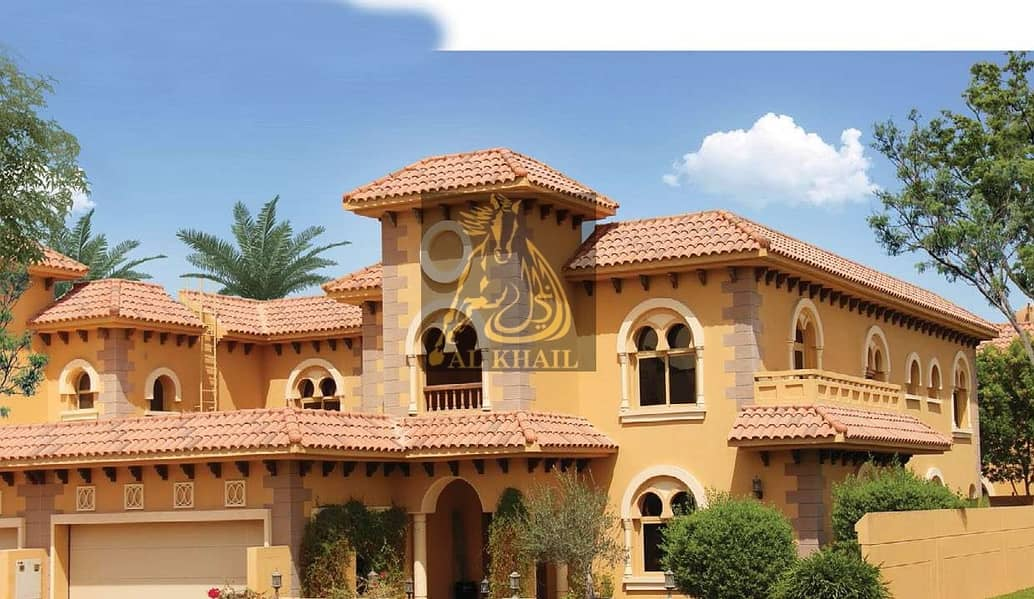 2 Glamorous 5 bedroom Villa + Maid + Store + Family Room for rent in Falcon City of Wonders