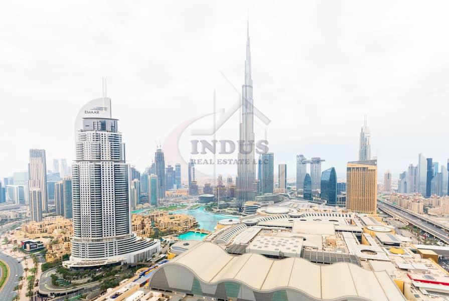3BR+M Furnished Apartment | Burj Khalifa-Fountain Views