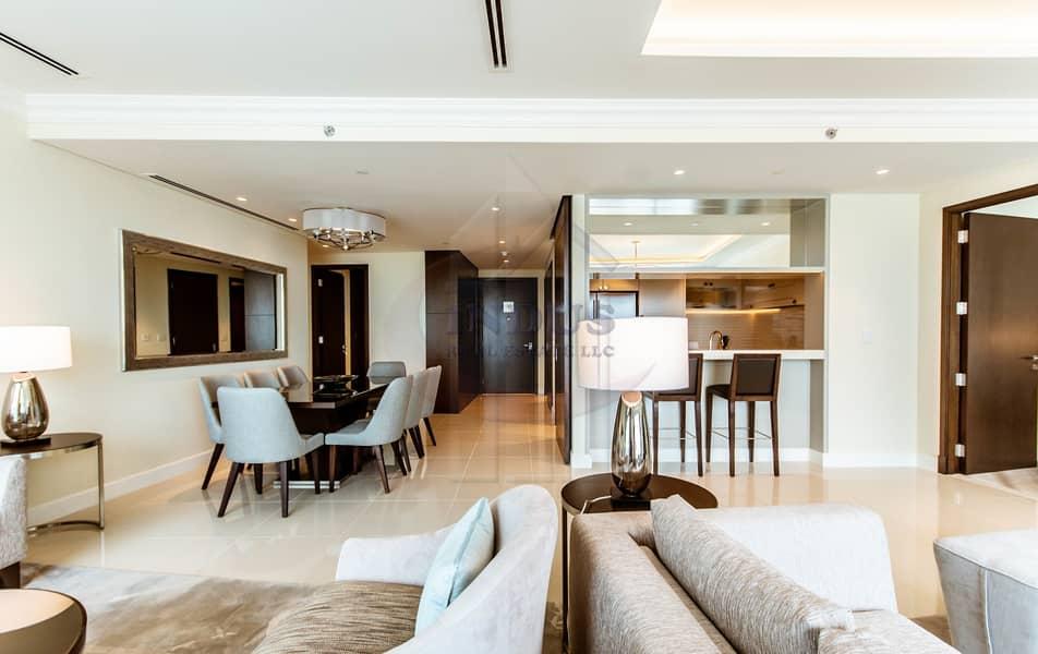 2 3BR+M Furnished Apartment | Burj Khalifa-Fountain Views