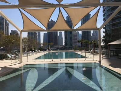 1 Bedroom Flat for Sale in Dubai Marina, Dubai - Shaded Pool Area