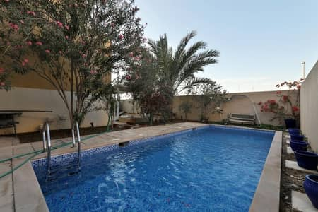 5 Bedroom Villa for Rent in Al Raha Gardens, Abu Dhabi - Upscale Villa 5 Master BR + Study with Full Garden View